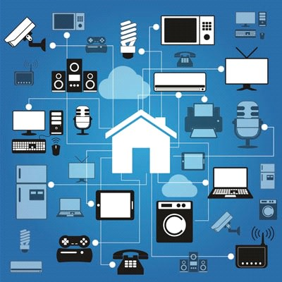 Rappresentazione Internet Of Things casa
